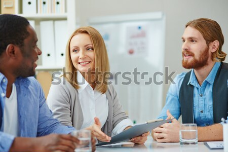 Office workers at meeting Stock photo © pressmaster