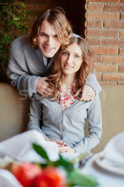 快樂 情侶 肖像 戀愛的 看 商業照片 © pressmaster