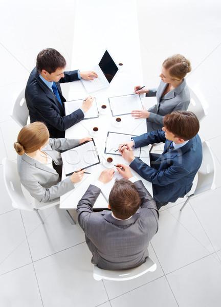 Zdjęcia stock: Planowania · pracy · powyżej · widoku · przyjazny