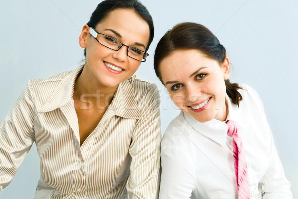 Stock fotó: üzlet · nők · portré · kettő · csinos · néz