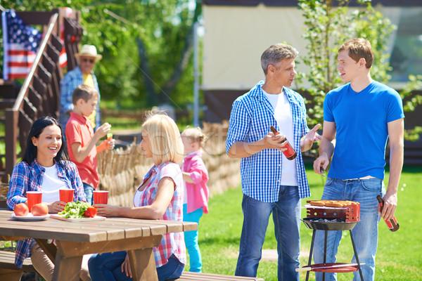 Friends on picnic Stock photo © pressmaster