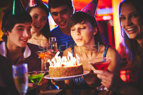 Blowing candles Stock photo © pressmaster