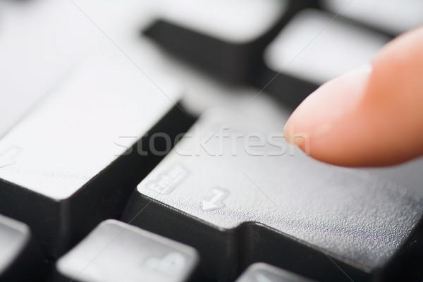 изображение человека пальца указывая ключевые Сток-фото © pressmaster