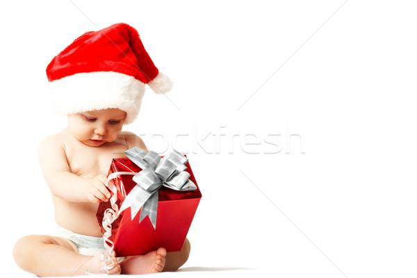 Pequeno surpresa foto curioso surpreendido bebê Foto stock © pressmaster