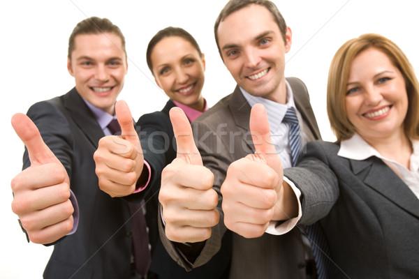 Stockfoto: Okay · afbeelding · verscheidene · zakenlieden · tonen