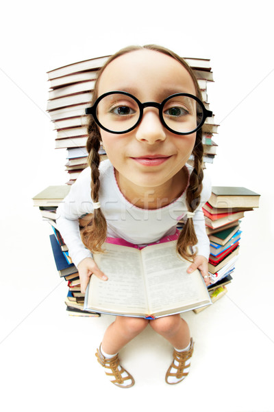 Girl in eyeglasses Stock photo © pressmaster