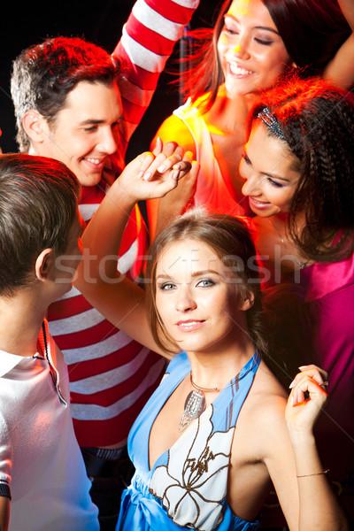 Pompás táncos káprázatos nő okos ruha Stock fotó © pressmaster