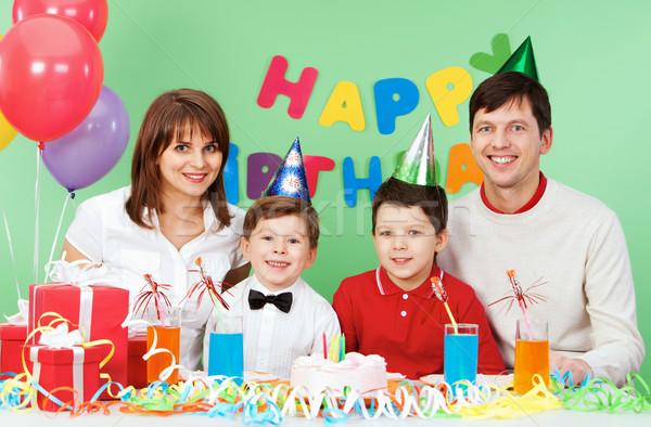 Ocasião retrato família celebrar aniversário mulher Foto stock © pressmaster