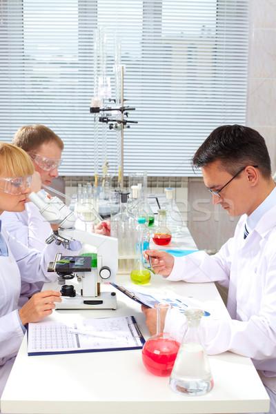 Foto stock: Laboratório · trabalhar · mulher · médico · saúde · medicina