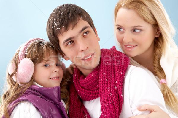 Familia tres familia feliz invierno ropa nina Foto stock © pressmaster