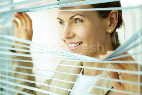 Business Ausblick lächelnd business woman schauen heraus Stock foto © pressmaster