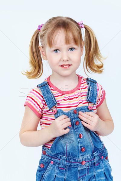 Denim verticale ritratto dolce ragazza Foto d'archivio © pressmaster
