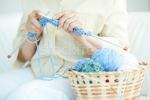 Kleding handen wollen hand Stockfoto © pressmaster