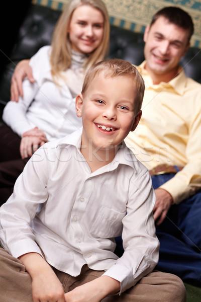 Mutlu delikanlı portre sevimli erkek bakıyor Stok fotoğraf © pressmaster