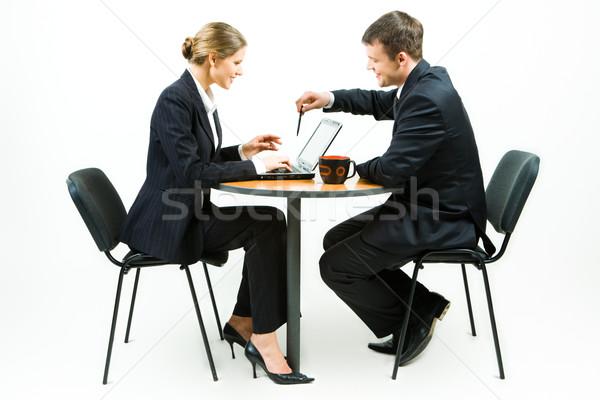 Business partner lavoro foto imprenditore imprenditrice seduta Foto d'archivio © pressmaster