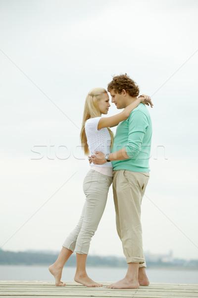 Luna de miel imagen cariñoso hombre mujer Foto stock © pressmaster