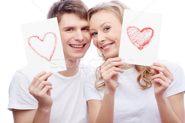 Сток-фото: любви · счастье · портрет · молодые · любовный · пару