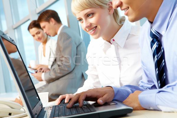 Bilgisayar çalışmak portre yürütme ortaklar bakıyor Stok fotoğraf © pressmaster