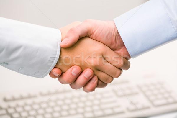 ストックフォト: ハンドシェーク · 写真 · ビジネス · 手 · チーム