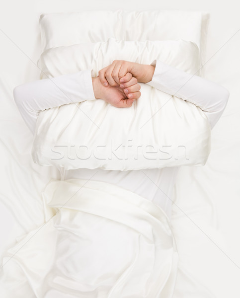 Holding pillow Stock photo © pressmaster