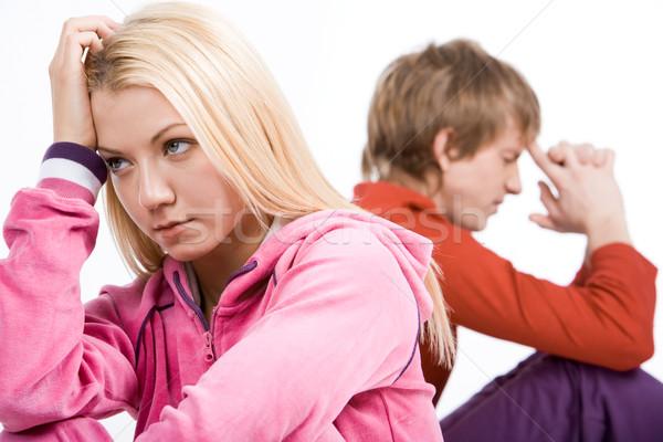 Kłócić się obraz smutne dziewczyna mylić facet Zdjęcia stock © pressmaster
