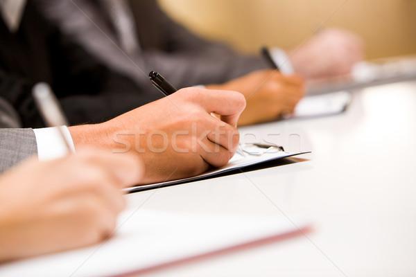 Writing report Stock photo © pressmaster