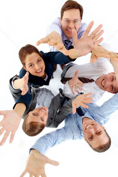 Stock photo: Cheerful partners