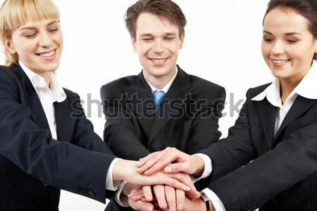 Stock fotó: üzlet · szövetség · portré · mosolyog · üzleti · partnerek · köteg