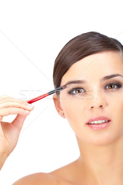 Malarstwo oczy portret piękna kobieta kobieta strony Zdjęcia stock © pressmaster