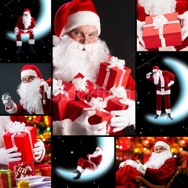 Collage of Santa Claus  Stock photo © pressmaster