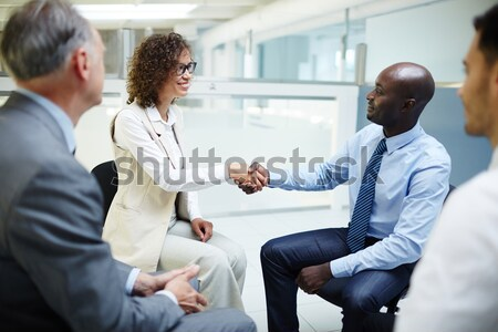 Interacting females Stock photo © pressmaster