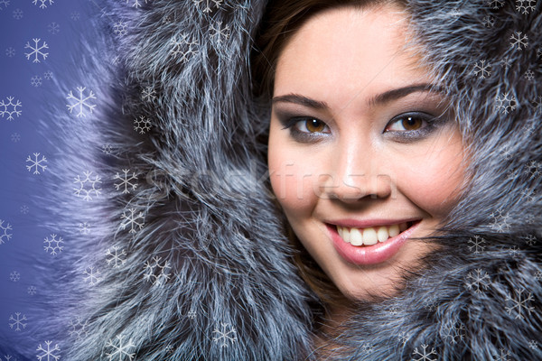 Female in furs Stock photo © pressmaster