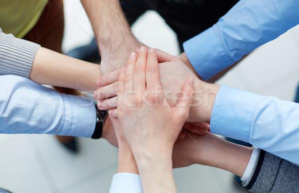 бизнеса Союза Бизнес-партнеры рук Top другой Сток-фото © pressmaster