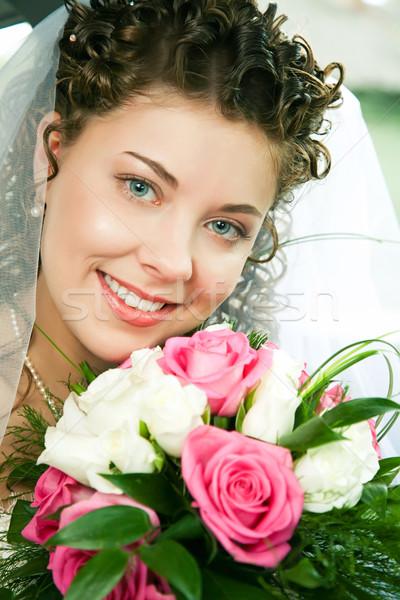 Yeni evli portre güzel genç gelin bakıyor Stok fotoğraf © pressmaster