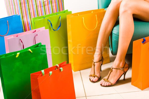 Láb kép nőies karcsú lábak visel Stock fotó © pressmaster