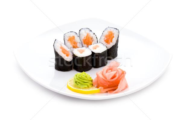 Foto d'archivio: Immagine · sushi · zenzero · wasabi · piatto · luce