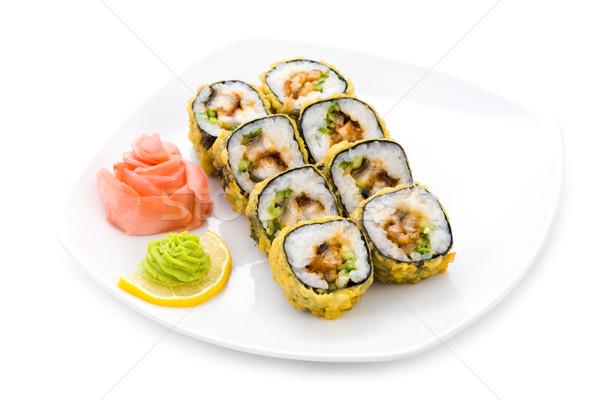 Foto d'archivio: Maki · immagine · sushi · zenzero · wasabi · piatto
