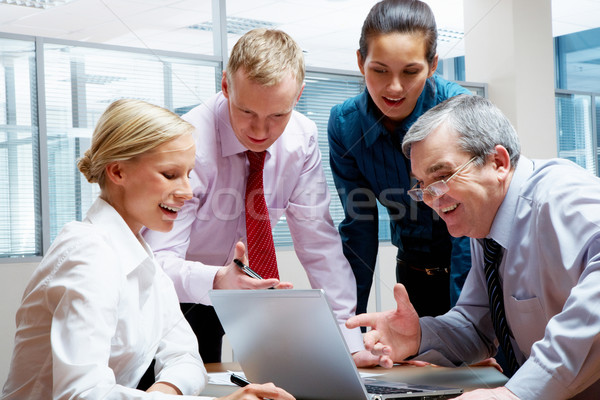 Social meeting Stock photo © pressmaster