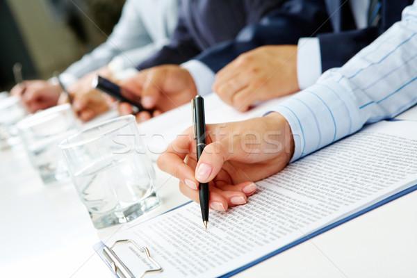 Seminar Bild Zeile Menschen Hände etwas Stock foto © pressmaster