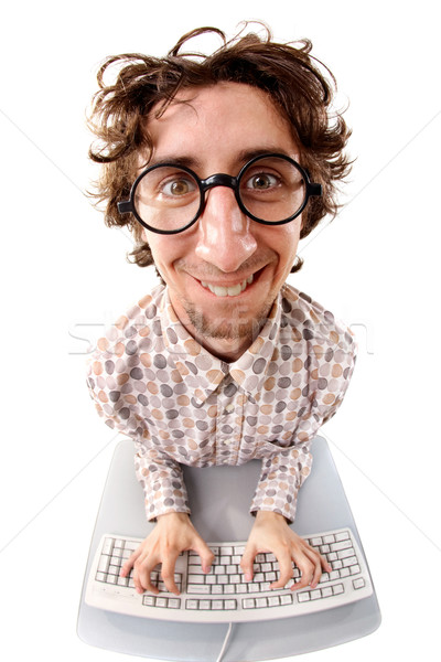 Enthusiastic office worker  Stock photo © pressmaster