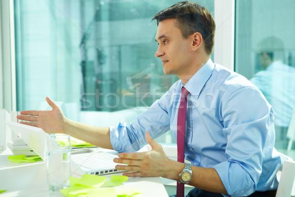 Oficina interacción retrato hombre lugar de trabajo negocios Foto stock © pressmaster