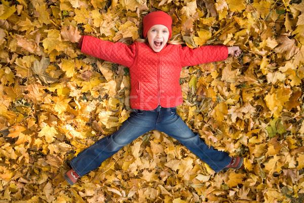 Excitação acima ver animado criança Foto stock © pressmaster