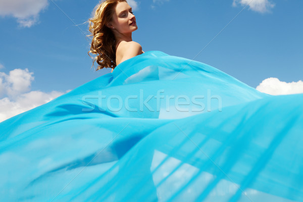 Blue drapery Stock photo © pressmaster