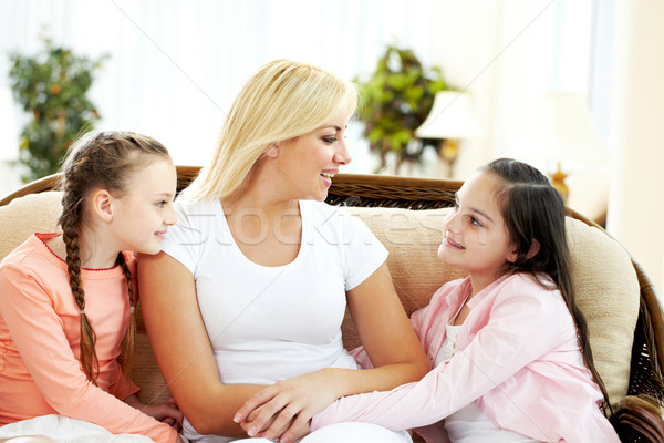 Family chat Stock photo © pressmaster