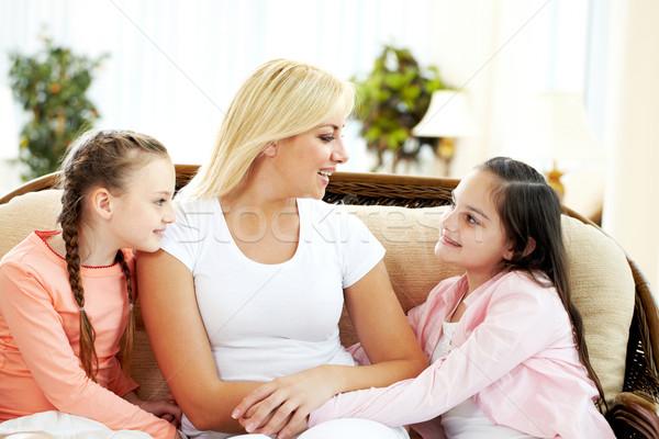 семьи чате портрет счастливым матери два Сток-фото © pressmaster