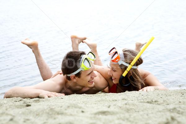 Couple of divers Stock photo © pressmaster