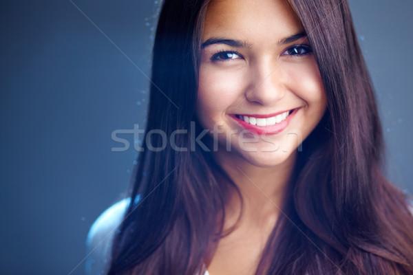 Hollywood sorriso ritratto giovane ragazza perfetto faccia Foto d'archivio © pressmaster