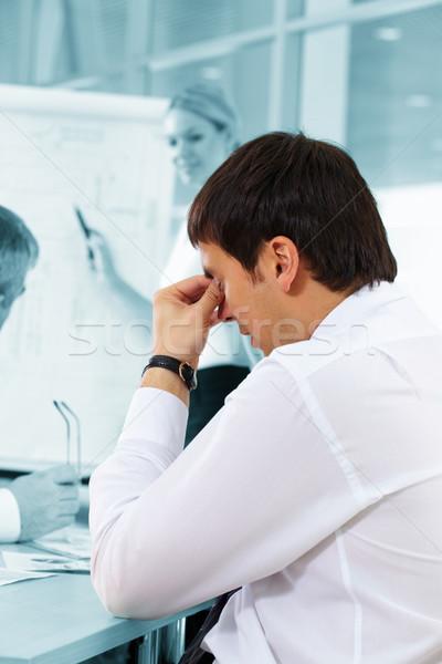 Fáradt üzletember kifejez fáradtság nő férfi Stock fotó © pressmaster