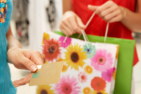 Holding credit card Stock photo © pressmaster