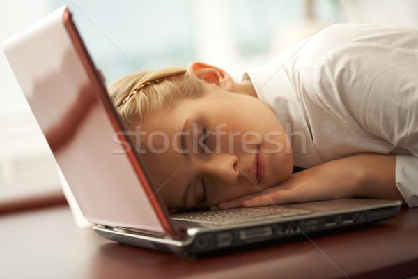 Foto stock: Tranquilidad · foto · jóvenes · bastante · nina · siesta